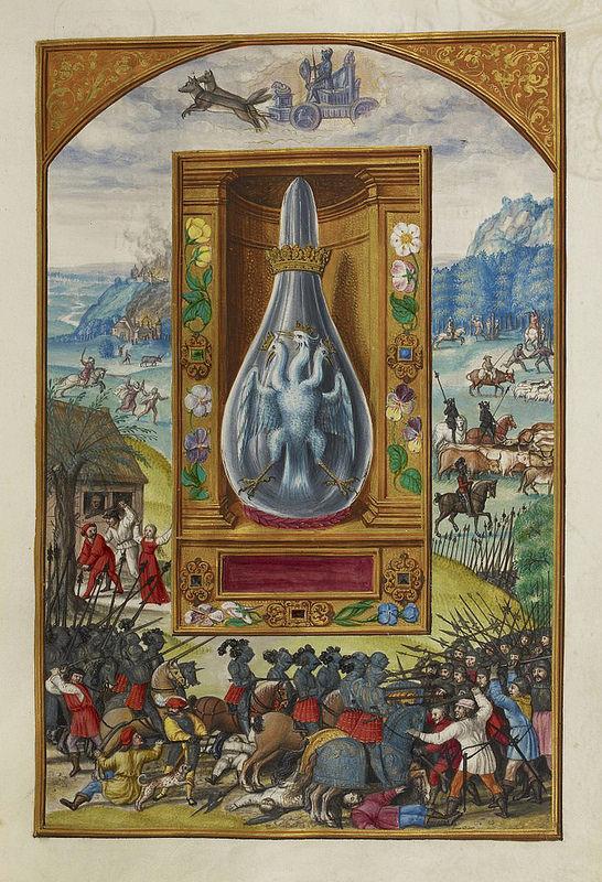"""da """"Splendor Solis"""", trattato alchemico tedesco, 1582."""