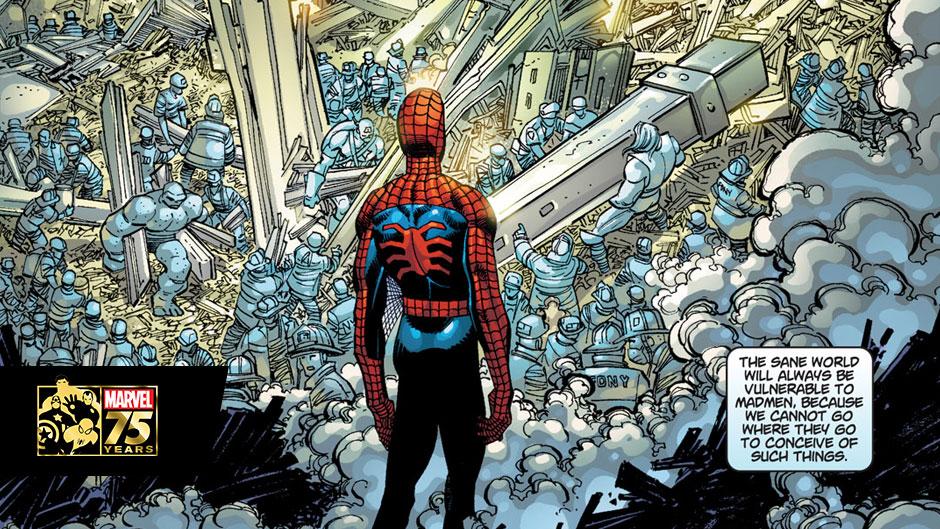 La copertina del numero 11 settembre 2001 è completamente nera. Questa è un'immagine interna.