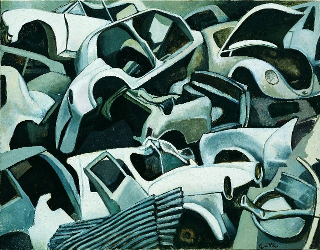 Renato Guttuso, Cimitero di macchine, 1978
