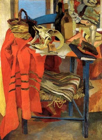 Renato Guttuso, Natura morta con drappo rosso, 1942