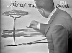 Alberto Manzi, fotogramma dalla trasmissione Non è mai troppo tardi.